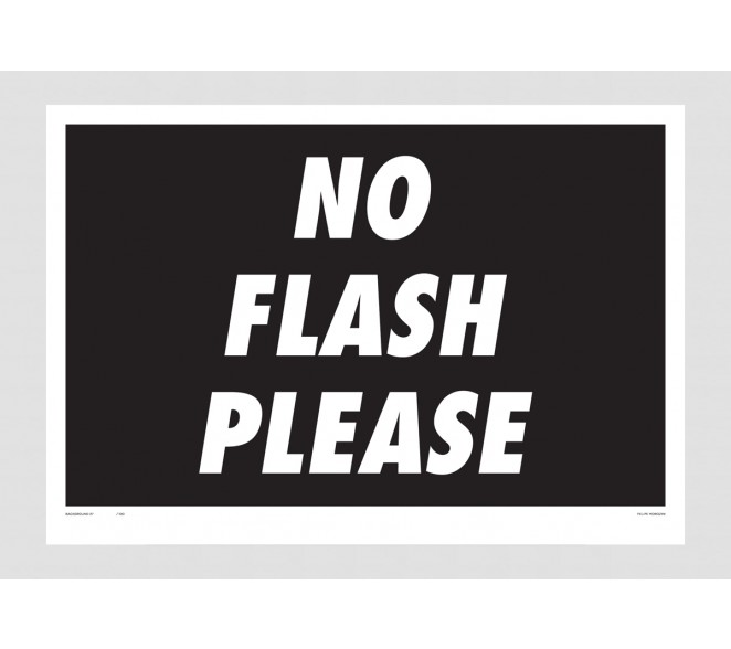 Print Felipe Morozini - No Flash Please