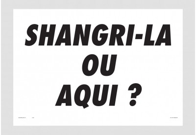 Print Felipe Morozini - Shangri-la ou Aqui