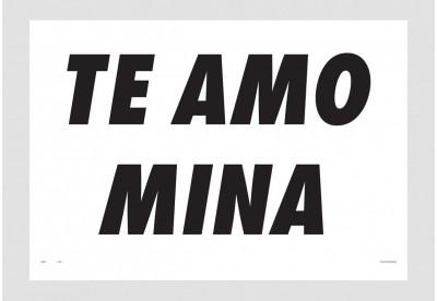 Print Felipe Morozini - Te Amo Mina