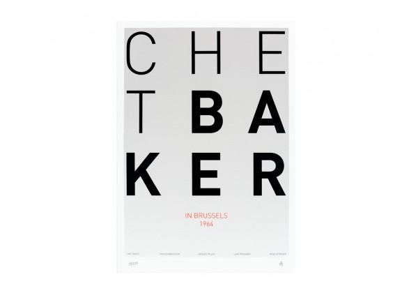 Print Gabriel Sáez - Chet Baker in Brussels