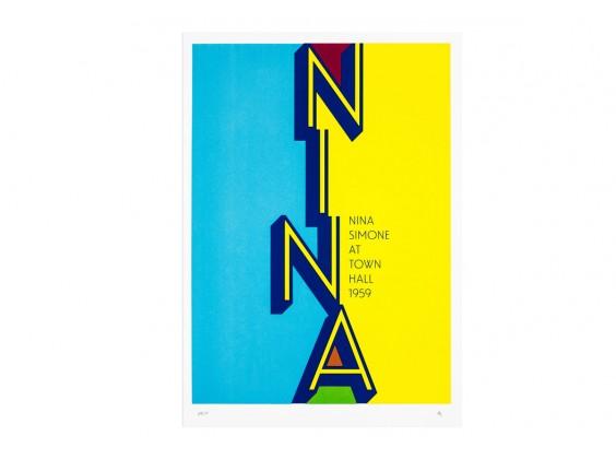 Print Gabriel Sáez - Nina Simone at Town Hall