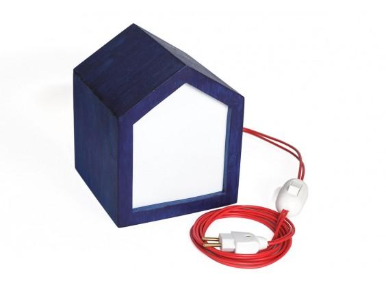 Luminária Azul Casinha Mariana Tassinari