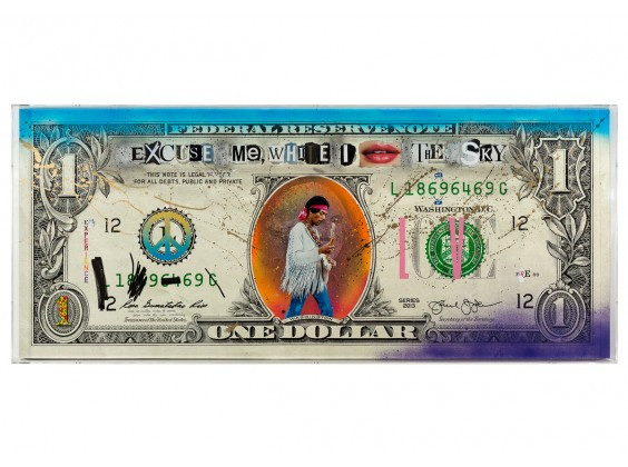 BIG ONE DOLLAR BILL - JIMI HENDRIX