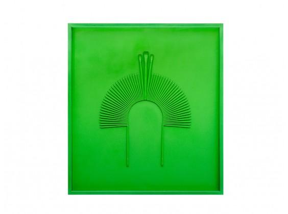 Cocar Monochrome Verde Ervilha